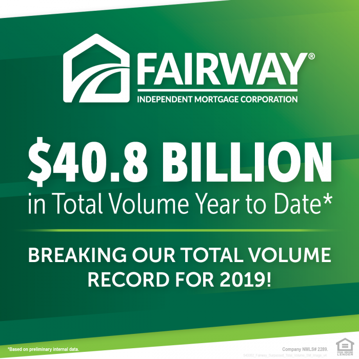 Fairway total loan volume year to date graphic